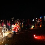 The line for Santa